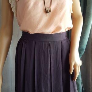 VTG Pleated Maxi Skirt 🐱Solid Gray allover Pleats